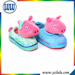 Новых теплых мягких полу детей шикарные Pig игрушка тапочки дети зимних домашняя обувь для установки внутри помещений