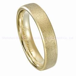 Überzogener Titanhochzeits-Ring des Form-Schmucksache-Diamant-Verlobungsring-18K Gold