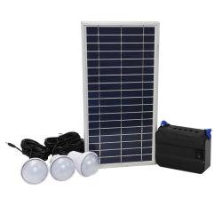 Système d'éclairage d'accueil solaire 3chambres avec chargeur de téléphone mobile USB