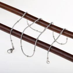 Colar de moda jóias de aço inoxidável da cadeia de serpentes com cordões
