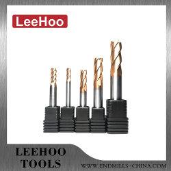 Rabais de 10%Fresa CNC 45/55/63/65 HRC 2/3/4 Flûte boule plate carrée nez la fraise à rayon d'angle de coupe en carbure de tungstène de machine-outil solide fin Mill