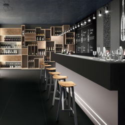 مقصف ستون بار ذو لون مترابط لفندق Restaurant Diamond Black