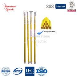 Energia elétrica Haste de Operação telescópica com isolamento de fibra de vidro