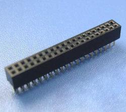 موصل قاعدة المقبس المخصص للأنثى البديلة ذات الألواح الذهبية من سامتيك للوحة الدائرة المطبوعة (PCB) التجميع