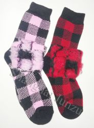 熱いコレクションのスキー重い冬の冷たい雪のための熱冬のソックスの羊毛のブラシのソックス問題無し