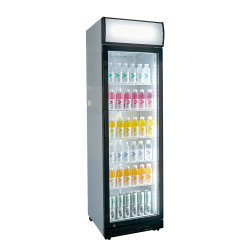 Охладитель высокая производительность одной двери с распашной двери в черном коммерческих ресторан Кафе Бар Паб холодильник