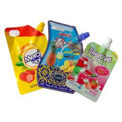 Sacchetto di plastica diritto su ordinazione di imballaggio per alimenti del sacchetto del sacchetto di muratore del vaso della chiusura lampo a forma di del sacchetto