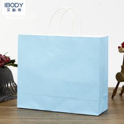 Durável recicláveis Nice Candy cor papel Kraft de saco com impressão personalizada de logotipo Tamanho Grande Dom Saco de papel Sacola de Compras