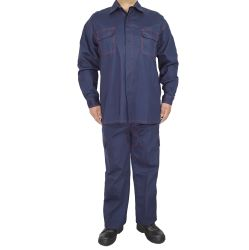 Têxteis funcionais ignifugação dos homens do trabalho durável vestuário de bolso de cabo de fita mágico