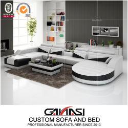 Италия дом отдыха П-образной формы современный удобный шезлонгами Гостиная мебель кожаный диван (G8018)