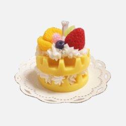 Décoratif en forme de deux couches de gâteau Parfum Bougie d'aromathérapie pour l'anniversaire de mariage