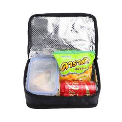 Preto com isolamento térmico portátil Mini Saco de almoço do resfriador para crianças