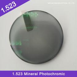 Stock Prijs 1.523 Minerale Single Vision Photochromic HMC optische lens