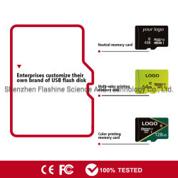 Kundenspezifische Firmenzeichen-Speicher- mit schnellem Zugriffkarte TF-Karte 4GB 8GB für Kamera-Handy-codierte Karte