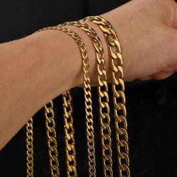 人のネックレスのヒップホップのステンレス鋼のキューバ人の鎖のための長く厚くステンレス鋼のギフトの金