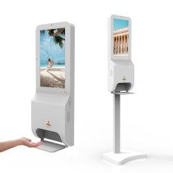 21.5inch LCD de Vertoning van de Reclame met de Automaat van het Gel van het Desinfecterende middel van de Hand