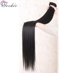 10a les cheveux vierges péruvien directement les faisceaux de Tissage de cheveux humains couleur naturelle de gros 100 Remy les Extensions de cheveux humains