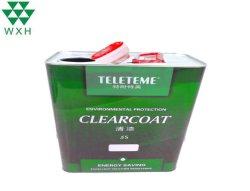 2L het Blik van het Tin van de Verpakking van Clearcoat van het Embleem van de douane met Plastic Deksel
