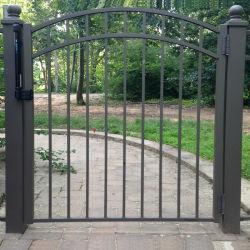 Puerta de aluminio de una sola puerta de acero de láminas de aluminio puerta valla a pie de la PUERTA PUERTA ÚNICA