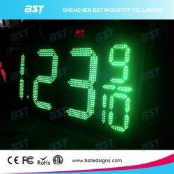 شاشة عرض سعر البنزين LED عالي السطوع في الهواء الطلق (أحمر/أصفر/أخضر/أبيض)