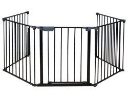Камин ограждения безопасности малыша Walk-Through двери, металлический ворота/широкий барьер домашние животные собака кошка Christm литника