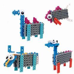 В 14885505-4 1 животных комплект измененных блоков образовательных DIY творческих игрушка блоки, 33ПК (козла - катание на верблюдах- рыбы - Буффало)