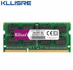 Ordinateur portable Kllisre DDR3 4 Go 8 GO 1333 à 1600 MHz de mémoire RAM SODIMM pour ordinateur portable