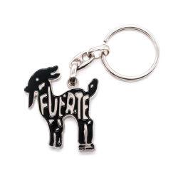 Esmalte de metal personalizada Cão Key Ring Hardware Emoji bordadas esmalte