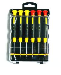 공구 크롬 V 높은 정밀도 6PCS 소형 플라스틱 손잡이 스크루드라이버 세트