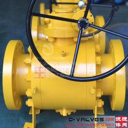DIN и ANSI/JIS/API Литые стальные из нержавеющей стали CF8/CF8m 3PC с фланцем на цапфы шаровой клапан для Pn10/Pn16 или 10K/16K или класса150/300/600 для Sanitaty/масла и газа