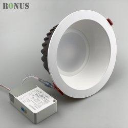 Светодиод набегающей прожектор початков глубокую и антибликовым покрытием 7-40W фонаря направленного света потолочные лампы внутреннего освещения