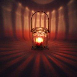 Alça de metal copo suporte para velas para carregar ou travando ou gancho