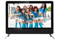 24 músicas dobles HD elegante TV del LCD LED del vidrio de la pulgada