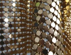 Металлический тканью/металлической сетки шторки/металла Sequin тканью