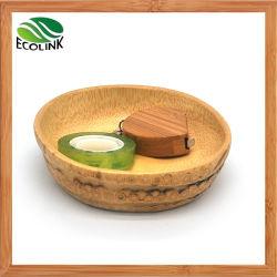 Bambuswurzel-runde Speicher-Filterglocke für Tischplattenorganisator