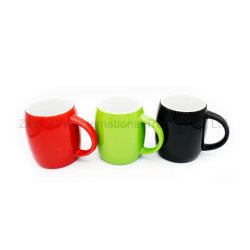 De BuitenKleur Verglaasde Mok van uitstekende kwaliteit van de Koffie van de Vorm van de Bal Ceramische