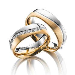 Lleno de los anillos de joyería de oro rosa la máxima calidad Catálogo de anillos de boda regalo de aniversario