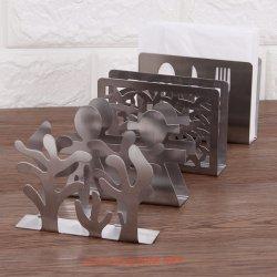 Casella da tavolo Assorted dell'erogatore del tovagliolo del supporto del tessuto del supporto del tovagliolo personalizzata figura dell'acciaio inossidabile