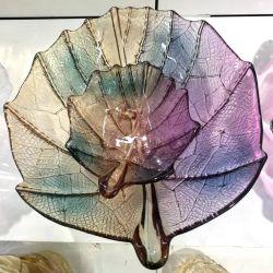 패턴 장식 유리 충전 플레이트가 있는 유색 유리 충전 플레이트