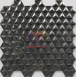 Mosaico nero dell'acciaio inossidabile di colore nella figura della stella 3D per la parete (CFM1095)