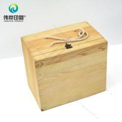 Coffret en bois avec l'emballage d'impression de Verrouillage de boîte de métal