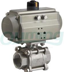 3部分304 316 ISO 5211 Bspのステンレス鋼の球弁