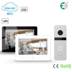 4 Fios de alta definição WiFi Tela de Toque Video Doorphone Home Sistema de segurança
