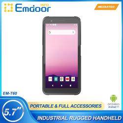 جهاز محمول باليد مقاس 5.7 بوصة مع نظام Android 10.0 GMS الكاميرا الخلفية بدقة 16.0 ميجابكسل جهاز PDA الصناعي