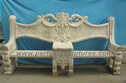 Pierre sculptée marbre chaise de jardin pour la décoration de jardin (QTC028)