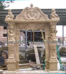 Arco de granito em mármore de pedra para a porta do átrio ao redor da porta Archway (DR036)