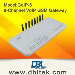 無線電信GSM 8チャネルのVoIPの固定ゲートウェイ(GoIP8)