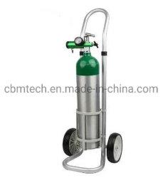 Cylinider portátil de oxígeno (índice de pasador de Médicos del cilindro de O2 con regulador y carro)