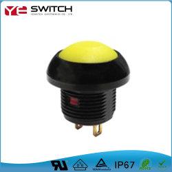 IP67は電子電源スイッチの押しボタンを防水する