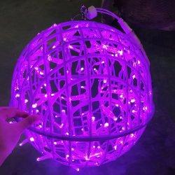 Новые стили темпы экономии привели Splittable пластиковые висящих шарик лампа для рождественских подарков для использования вне помещений оформление дерева